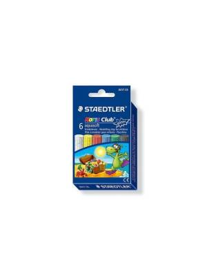 Set 6 plastiline cu glitter AquaSoft