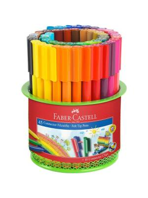 Set 45 carioci Connector in suport metalic Faber Castell 155545