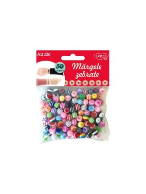 Margele colorate din plastic 50g Daco AD320