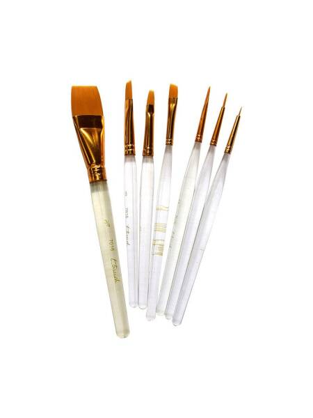 Set 7 pensule asortate ulei/acril T-Brush 7016