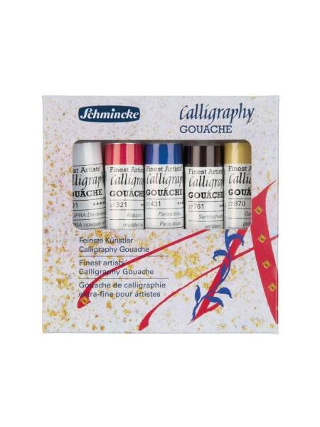 Set 5 x 20ml Gouache Calligraphy Schmincke 72705