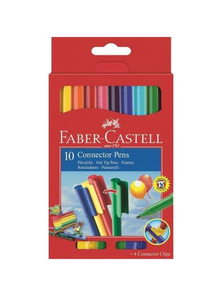 Set 10 carioci Connector Faber-Castell 155510